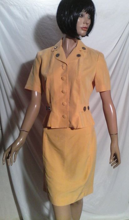 Nina Ricci - Tailor with copper and rhinestone trim - Vintage