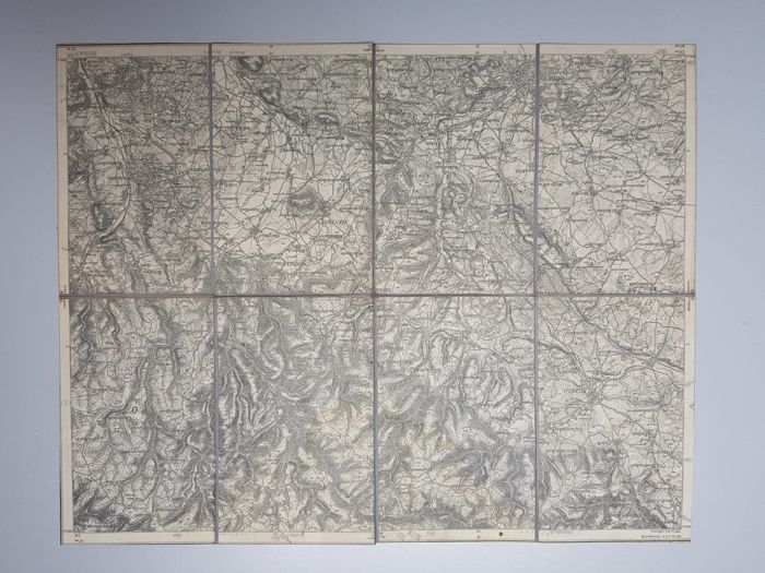 German military map on linen!!!