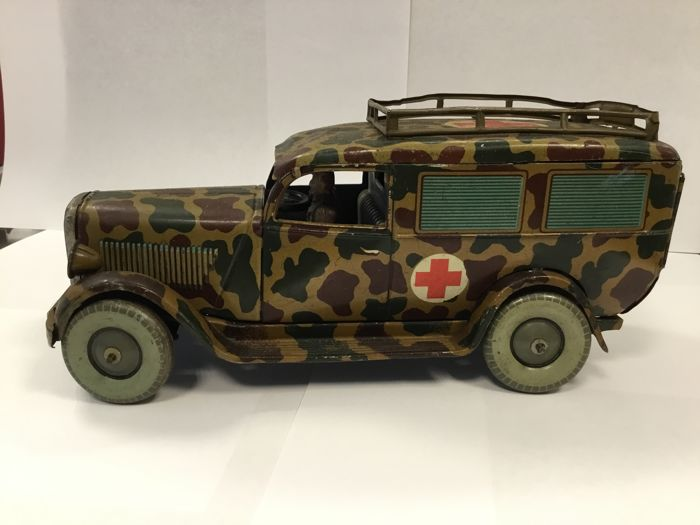 TIPPCO army ambulance, lithographed with the red cross