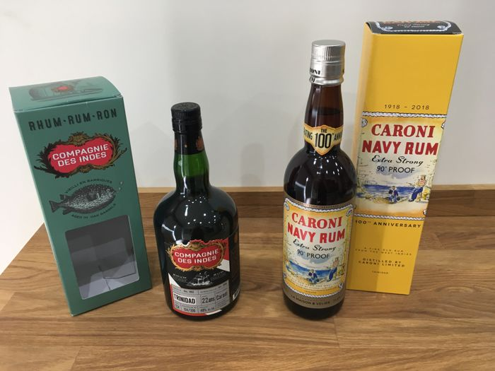 Caroni Navy rum Extra strong & Rum Compagnie des Indes Caroni