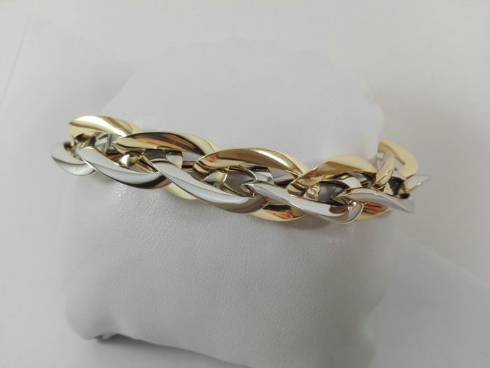 Etoile Gioielli - Women's bracelet in 18 kt white and yellow gold Weight 2.14 g - Length 21 cm