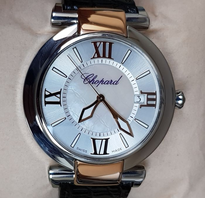 Chopard - Imperiale Mother Of Pearl Dial Gold/Steel 40mm - 8531 - Men - 2012