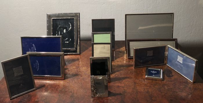 13 - Various luxury silver-plated photo frames - Silver plated.