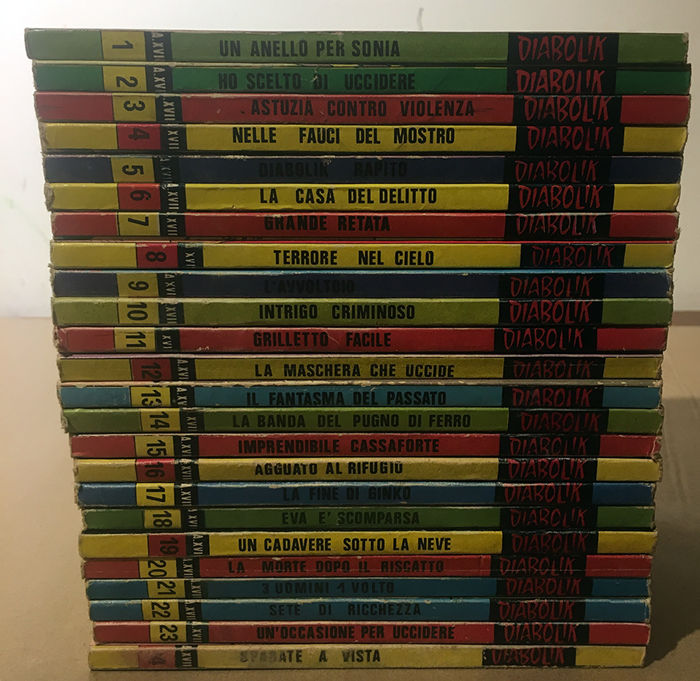 Diabolik nn. 1/24 - anno XVII completo - Trade Paperback - First edition - (1978)