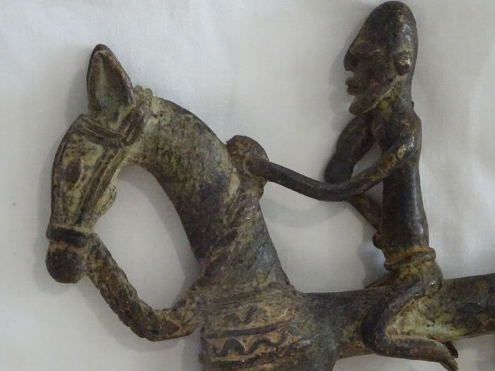 Ancient Dogon rider in bronze