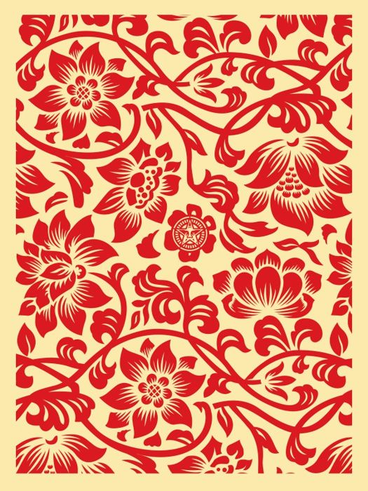 Shepard Fairey (OBEY) - Floral Takeover 2017 (Red/Cream)