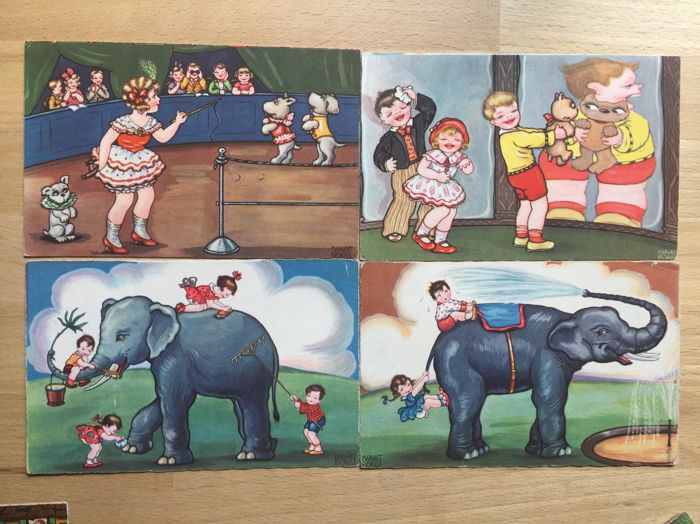 83x Margret Boriss + 18 x Joop en Jaap Klapp postcards - a very lovely lot