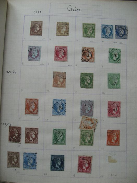 Greece 1861/1948 - Stamp collection including tax and airmail