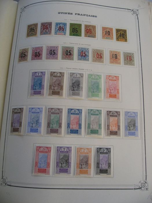 Anciennes colonies Françaises  1902/1935 - Stamp collection including tax and airmail
