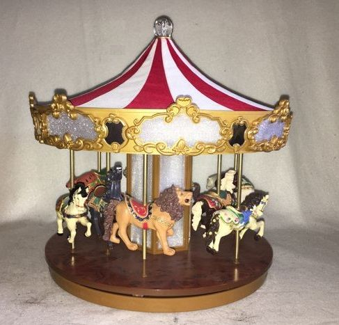 Large animal circus tent with music and lights