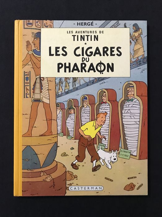 Tintin T4 - Les cigares du Pharaon - B14 française - Hardcover - First edition