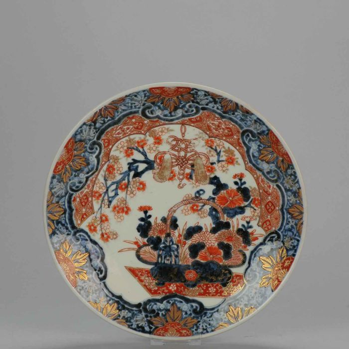 Antique Imari Gold Porcelain Plate (31.3cm) - Japan - Late 18th/Early 19th century