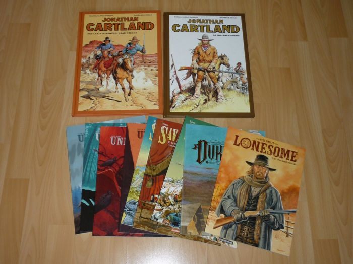 Jonathan Cartland integraal 1 t/m 2 - Undertaker 1 t/m 4 - Lonesome - Duke - Savage 1 t/m 3 - Western strips - First edition - (2013/2018)