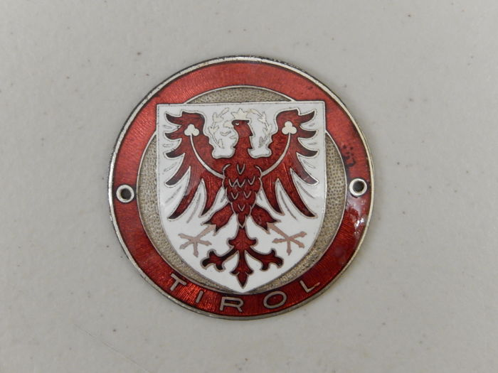 Badge - Vintage Besson Tirol Austria Car Badge Auto Emblem - 1960
