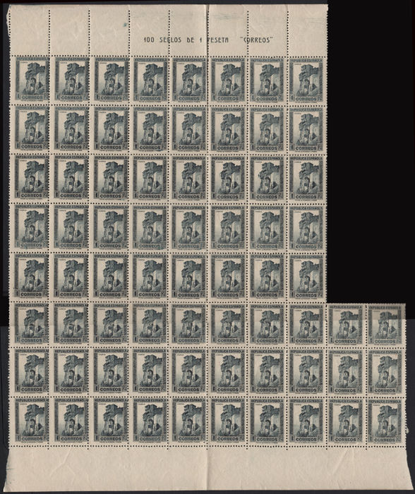 Spain 1932/1933 - Characters Lot 7 pieces blocks various sizes. - Edifil 665 - 659- 672...