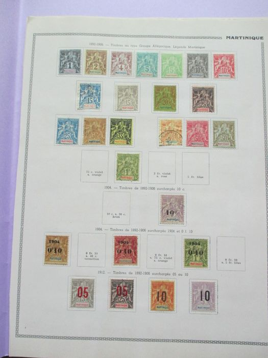 Martinique 1892/1944 - Stamp collection including tax