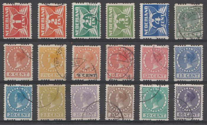 Netherlands 1925 - Double-sided rolling tooth - NVPH R1/R18