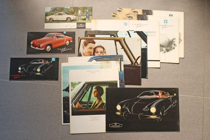 Brochures / Catalogi - Volkswagen Karmann Ghia - 1957-1966 (12 items)