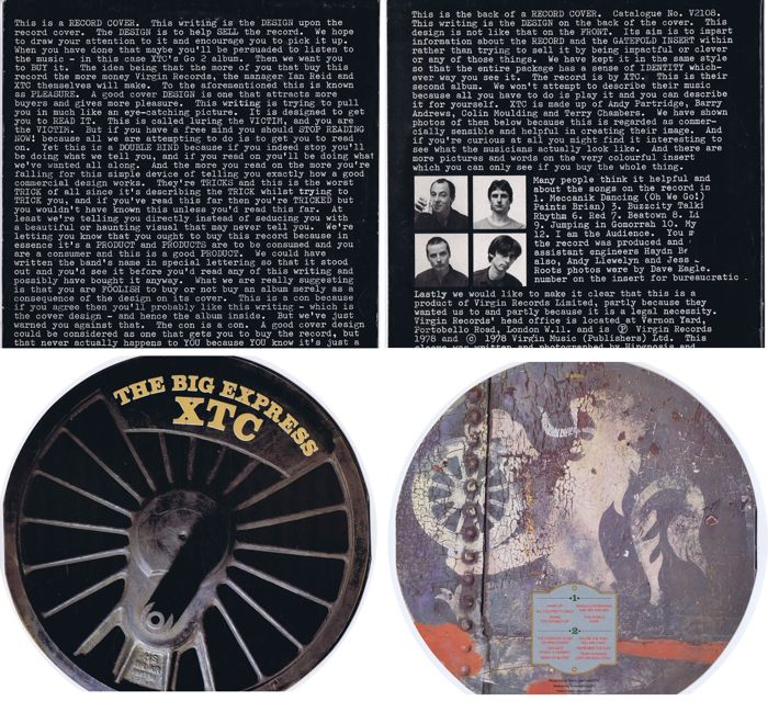 XTC lot of 2 LPs: 1. Go 2 (UK 1978) 2. The Big Express (UK 1984) Die-cut / Wheel-shaped (New ...