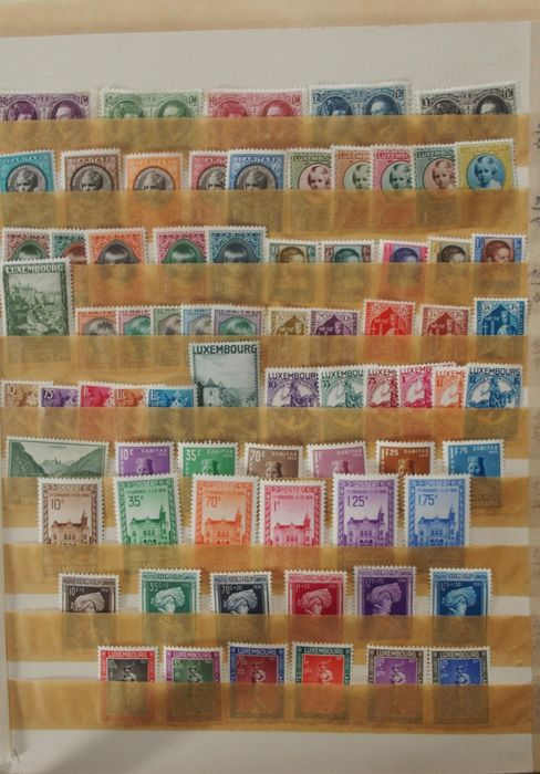 Luxembourg 1927/1937 - Stamp collection