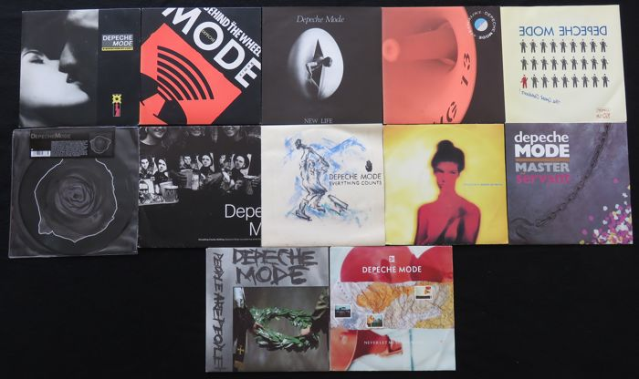 Depeche Mode - Great lot of 12 original 45RPM singles, including some rare pressings + 1 limited picture disc