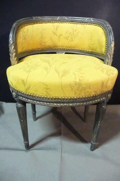 Hairdressing chair louis XVI style & Hairdressing chair louis XVI style - Catawiki