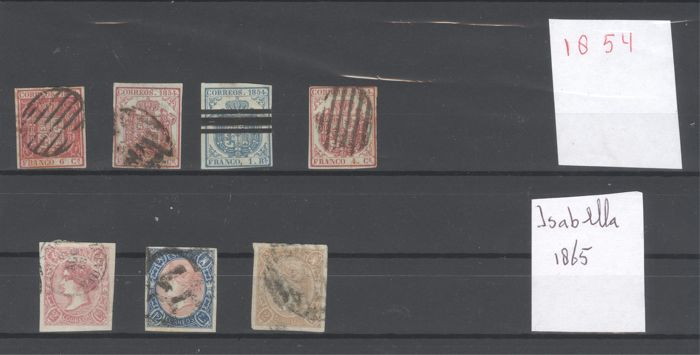 Spanje 1854/1865 - Lot of stamps