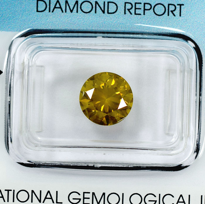 Diamond - 2.26 ct - Briliáns - Fancy Deep Yellow - SI2