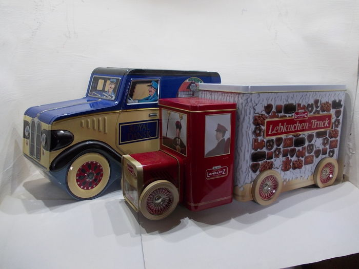 Truck And Car Shop >> Two Very Nice Shop Tins Royal Dansk And Lambertz Both As