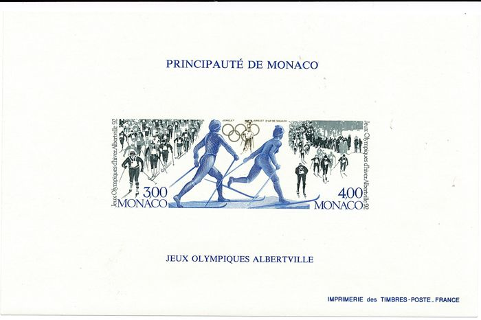 Monaco 1992 - Olympiad Barcelona special block imperforated - Maury Nr. 15a