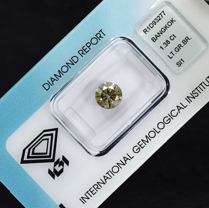 Natural Untreated Diamond - 1.38 ct