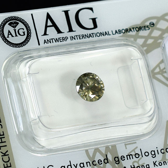 Natural Fancy Yellowish Brown Diamond - 0.94 ct, NO RESERVE PRICE