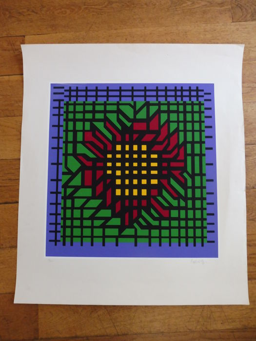 Victor Vasarely - composition abstraite