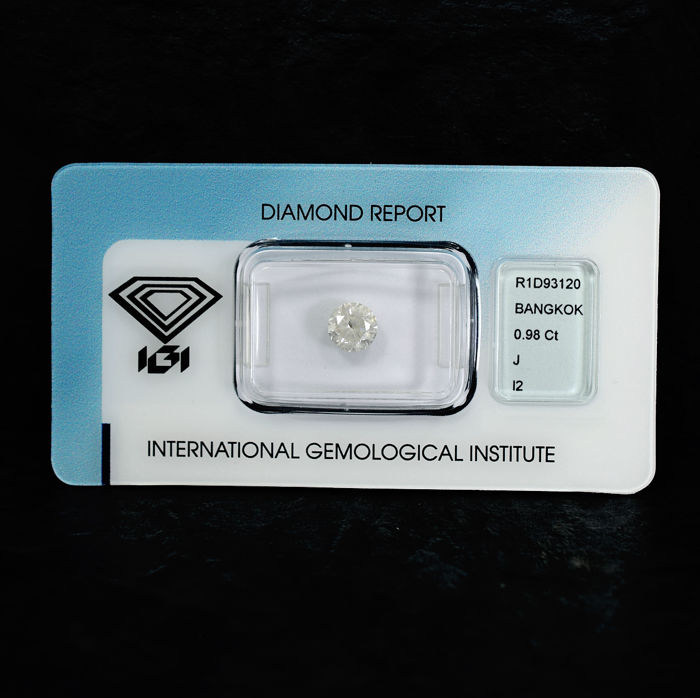 Diamond - 0.98 ct, J / I2
