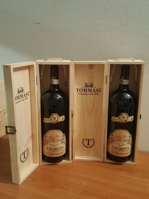 2013 Tommasi Amarone della Valpolicella Classico - 2 Magnums (2 x 150 cl) with Single Sealed OWCs
