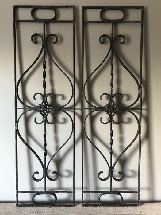Two French wrought iron window grills - ca. 1920