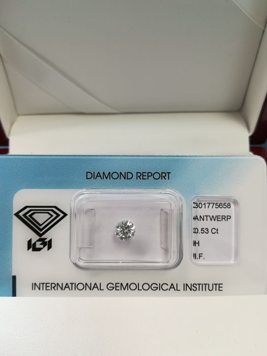 Natural Diamond 0.53 H IF