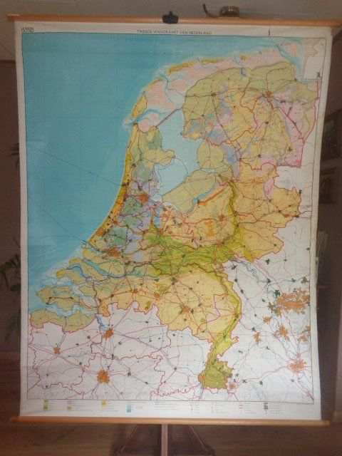 Old school map, map of Netherlands \