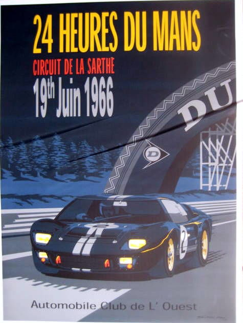 Oggetto decorativo - Ford GT40 - 24 Heures du Mans 19th Juin - 1966