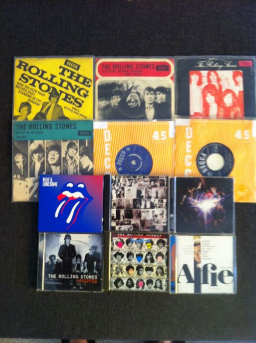 The Rolling Stones : lot of 6 -singles 45rpm and 6 cd's albums