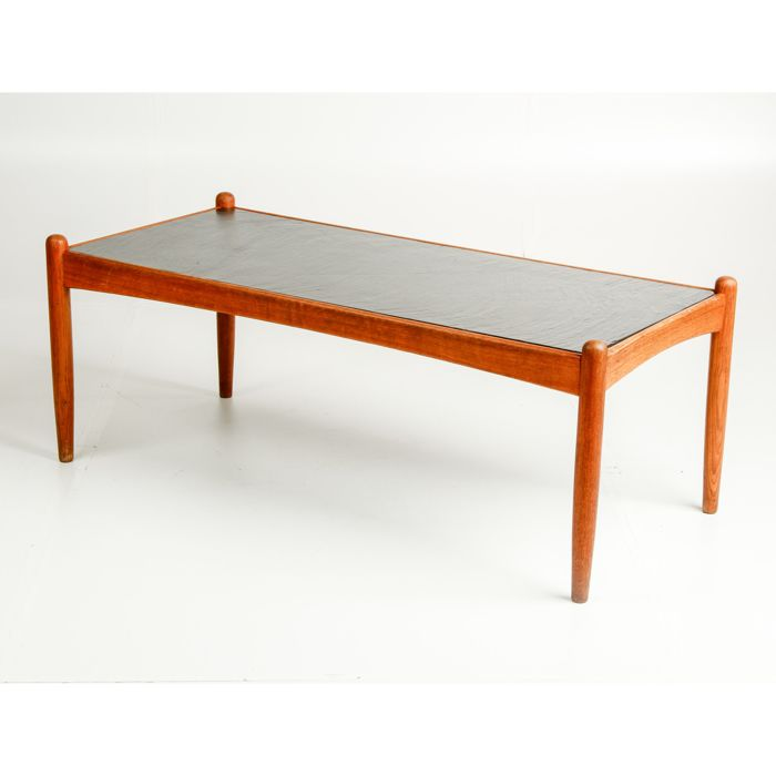 Producer Unknown Mid Century Modern Coffee Table Made Of Slate And