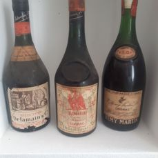 "Delamain ""Selection"" & Delamain ""Napoléon - Aigle Rouge"" & Rémy Martin VSOP - 3 old bottles"