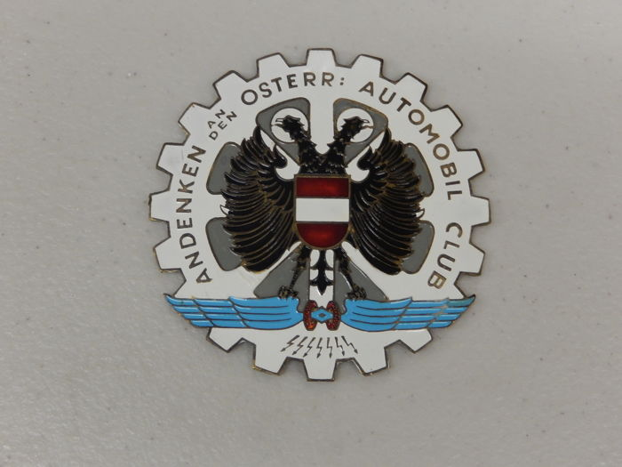 Badge - Austrian Automobile Club Car Badge - 1970