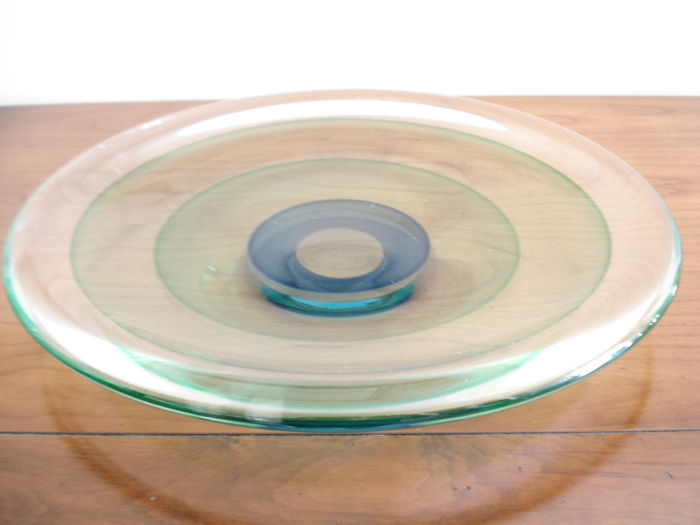 Luigi Onesto Murano - Centrepiece with Sommerso coloured concentric centres (42 cm)