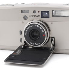 Contax TVS III Silver w/ Strap 35mm Point & Shoot Film Camera From JAPAN 828