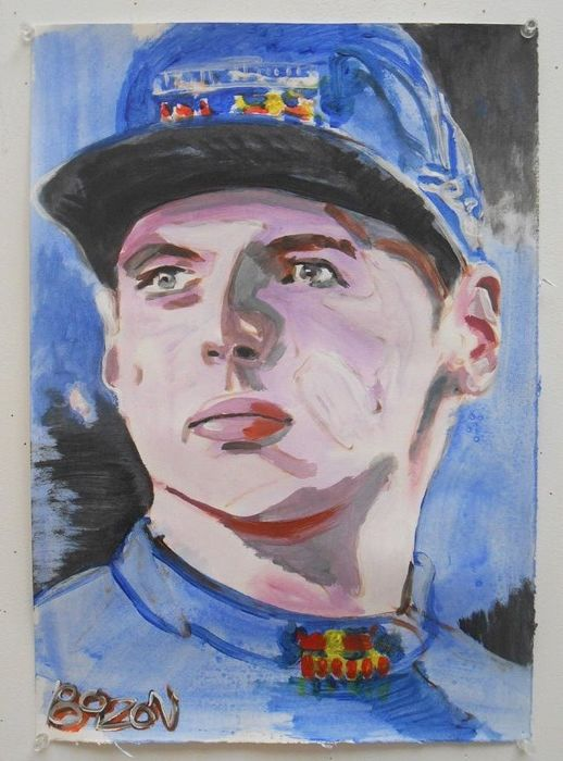 Decorative object - Portret Max Verstappen (1 items)