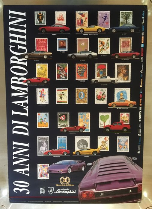 Poster - 30 anni di Lamborghini. Limited edition - 1993 (1 items)