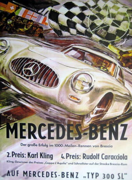 Decoratief object - Mercedes-Benz Typ 300 SL 1000 Meilen von Brescia - 1954 (1 items)