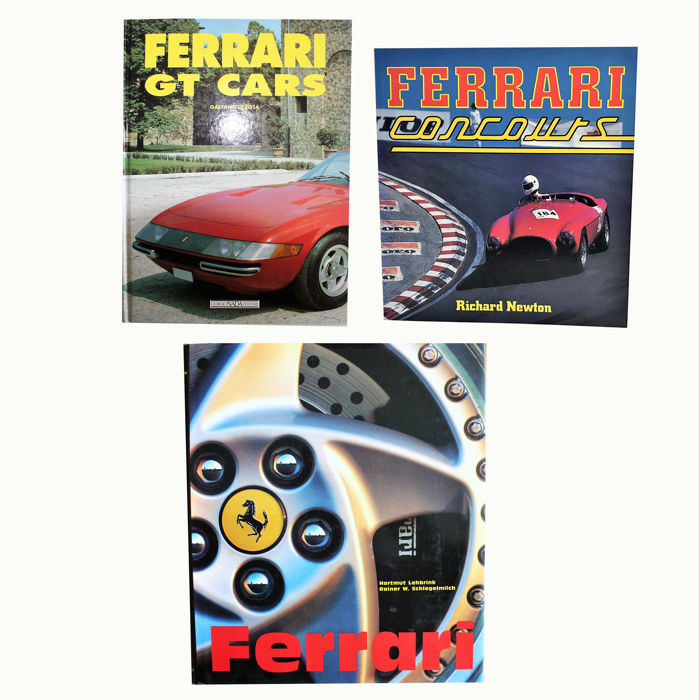 Books - 3 boeken over Ferrari - 1990-1995 (3 items)