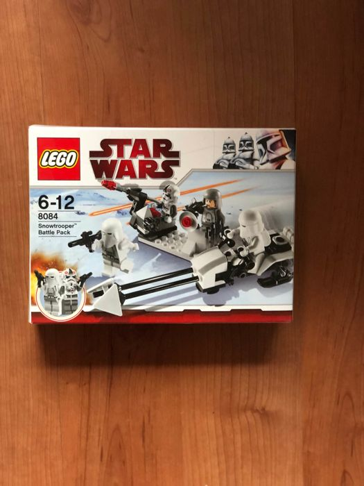 Star Wars - 7668 + 8014 + 8084 + 8015 - Rebel scout speeder + 2x Clone walker Battle + Snowtrooper battle pack + Assassin droids Battle pack